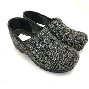 Dansko clogs wool plaid Felt pro mule wear to work